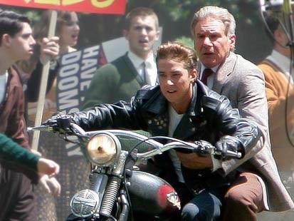 Shia LeBeof and Harrison Ford