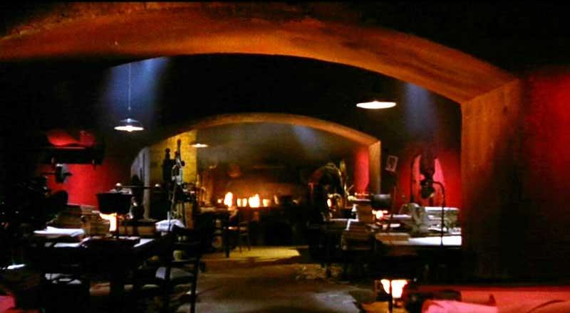 The alchemist's lair, beneath the Bibliotec in Rome.