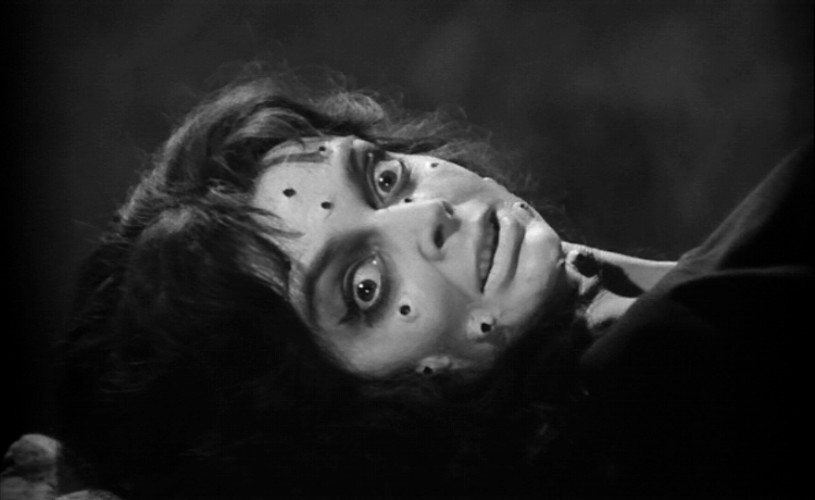 Barbara Steele as the revived witch in BLACK SUNDAY