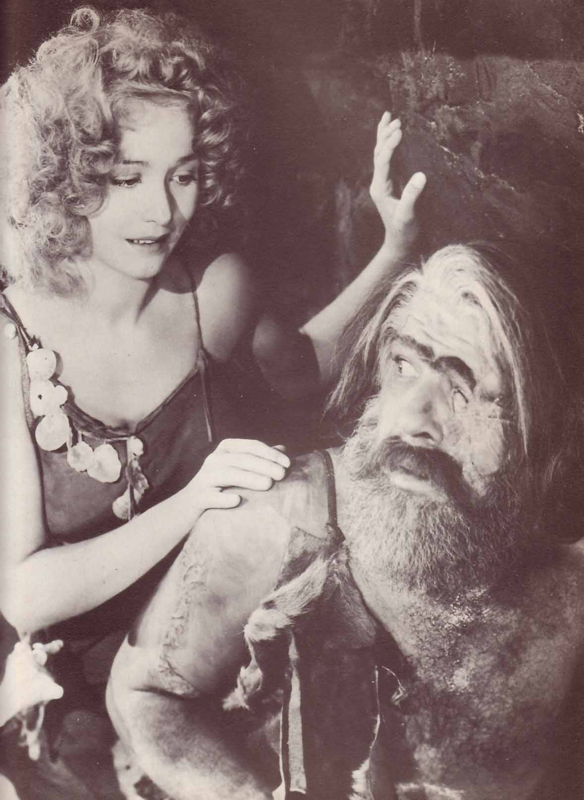 Carol Landis and Lon Chaney, Jr. in ONE MILLION B.C.