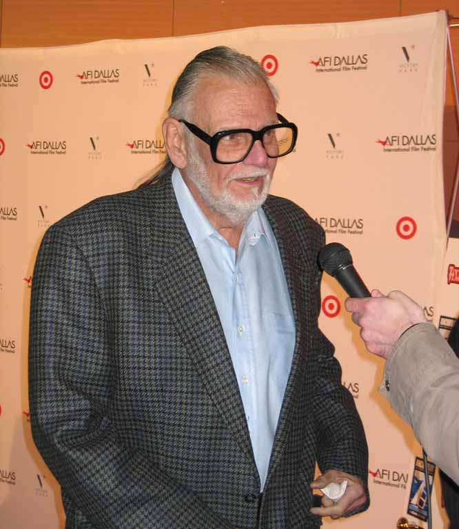George Romero answers questions at the screening (photo copyright 2008 by Drew Fitzpatrick)