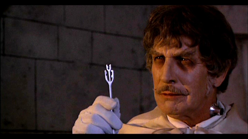 Master of Menace Vincent Price as the abominable villain in DR. PHIBES RISES AGAIN.