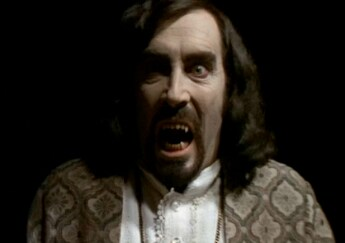 Robert Quarry as a Manson-like hippie vampire in THE DEATHMASTER.