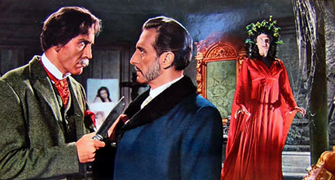 Christopher Lee and Peter Cushing, seen in a composite image