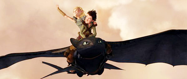 Toothless the Dragon takes flight in HOW TO TRAIN YOUR DRAGON