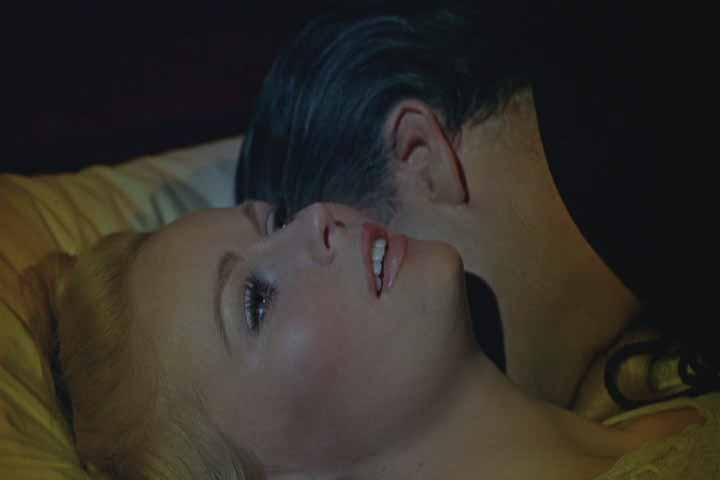 The Count lavishes his attention on Maria (Veronica Carlson).