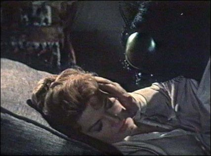 Andre DeLambre (David Hedison) fails to comfort his wife (Patricia Owens) after an accident has turned him into a fly.