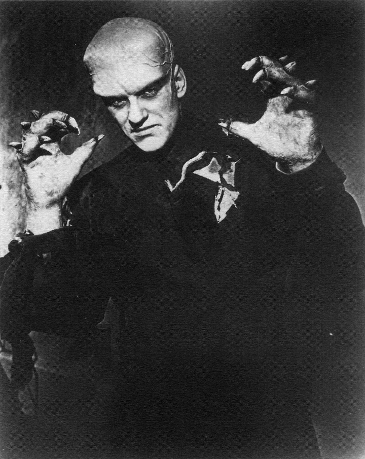 James Arness as THE THING FROM ANOTHER WORLD