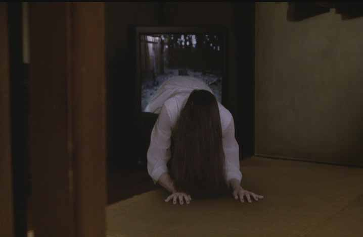 RING (998) proves that television is bad for you: Sadako emerges from the cursed video tape