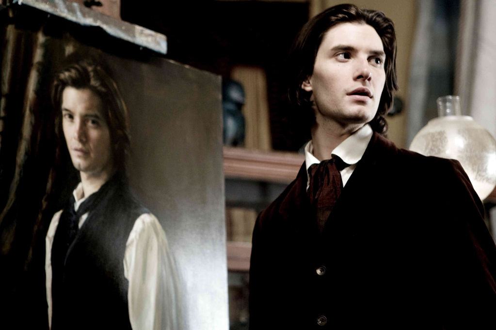 Dorian Gray (Ben Barnes) and his portrait, which ages instead of him