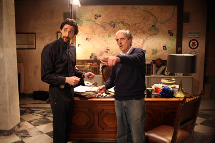 Actor Adrien Brody and director Dario Argento