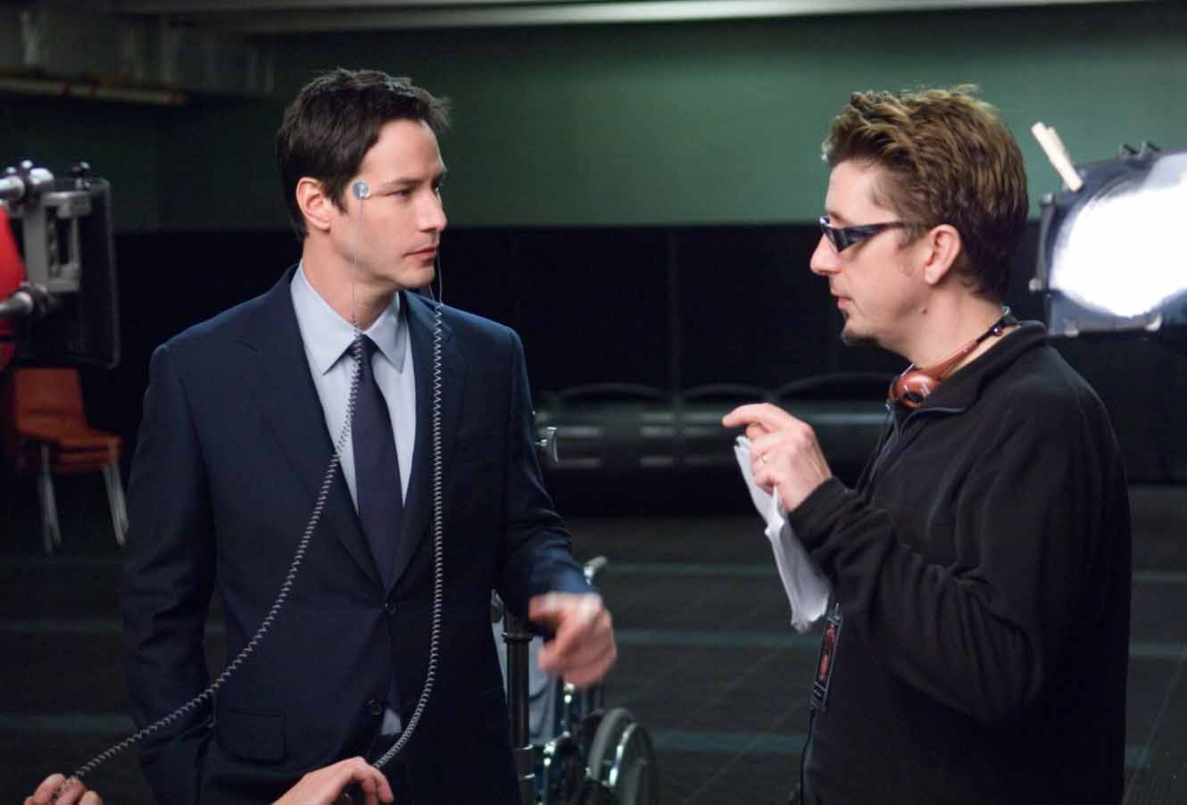 Keanu Reeves with director Scott Derickson.