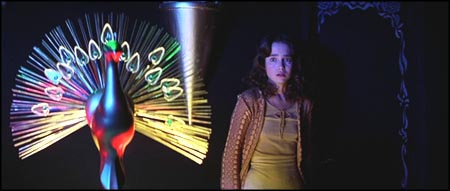 The Bird with the Crystal Plumage (from Dario Argento's directing debut) makes a cameo appearance as Suzy Banyon (Jessica Harper) enters the lair of Helan Markos.