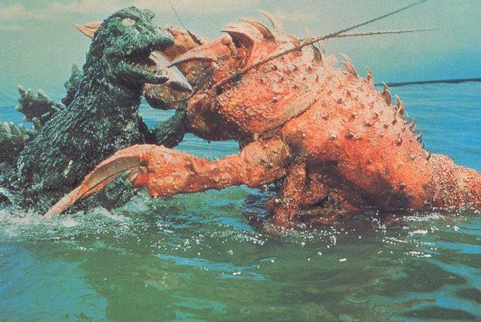 Godzilla battles Ebirah