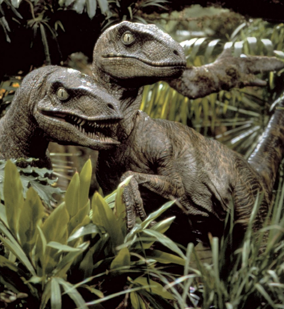 Stan Winston's live-action raptors from JURASSIC PARK
