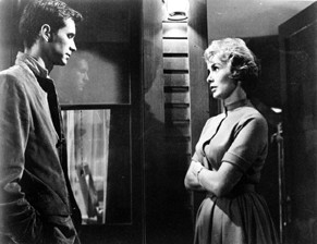 Anthony Perkins with Janet Leigh in PSYCHO