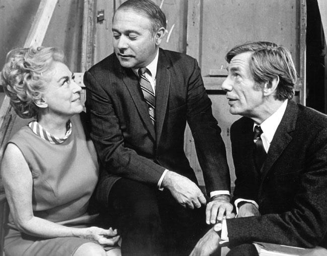 Michael Gough worked with Joan Crawford (left) on BERSERK.
