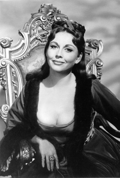 THE RAVEN: a publicity still of Hazel Court, who played Lenore in this ersatz adaptation of Poe's poem