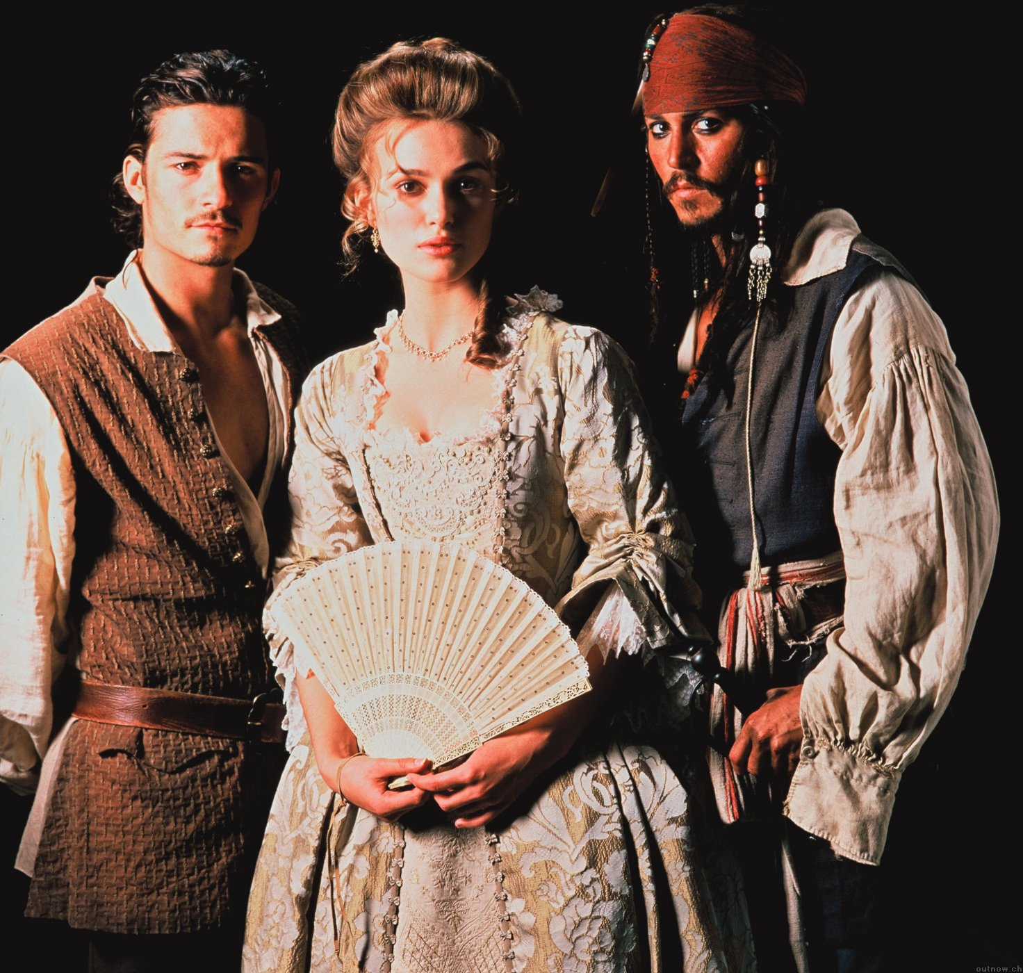 Orlando Bloom, Kiera Knightley, Johnny Depp
