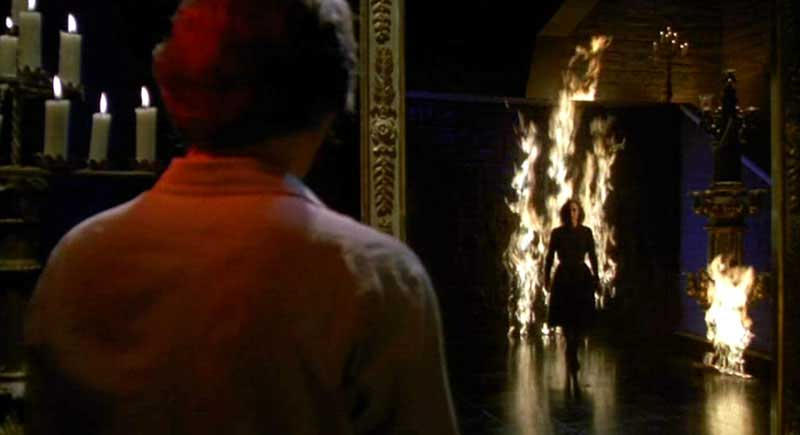 Mark (Leigh McCloskey) confronts the Mother of Darkness in her lair.