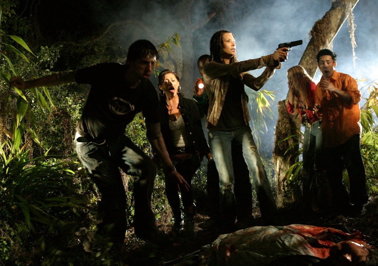 A tour of the swamp turns to terror in the horror homage HATCHET.