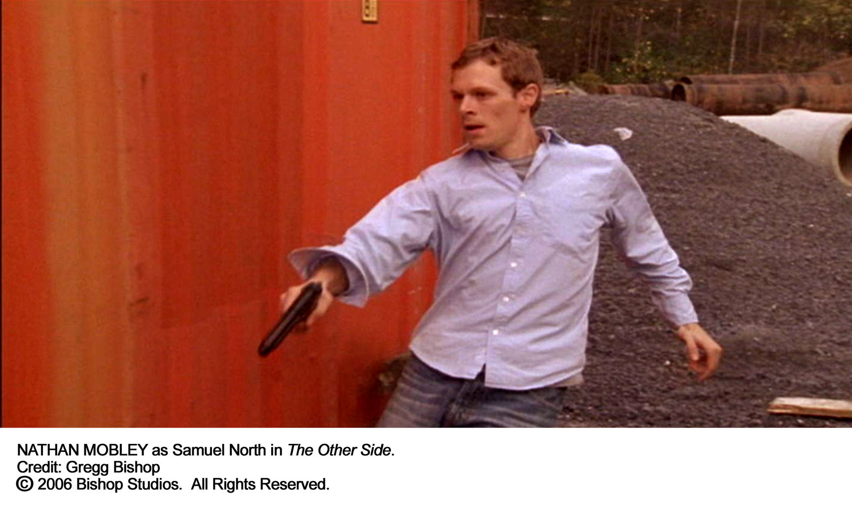 Samuel North (Nathan Mobley) evades the Reapers.
