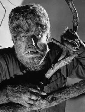 Lon Chaney Jr as the Wolf Man.