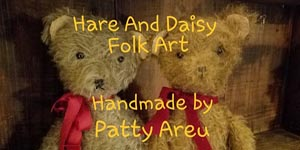 Hare And Daisy Button
